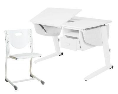 Комплект Астек Парта Прайм с тумбой со стулом SF-3 и прозрачной накладкой на парту 65х45