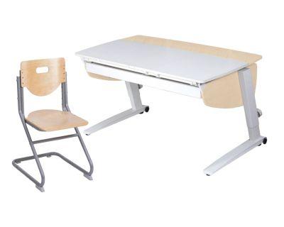Комплект Астек Парта Прайм с большим органайзером со стулом SK-2 и прозрачной накладкой на парту 65х45