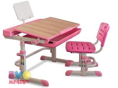 Детская парта с регулировкой высоты и стулом Mealux EVO-04 XL