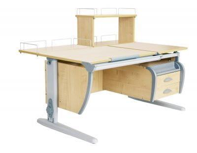 Парта Дэми (Деми) СУТ 17-04Д (парта 120 см+задняя приставка+двухъярусная задняя приставка+подвесная тумба)