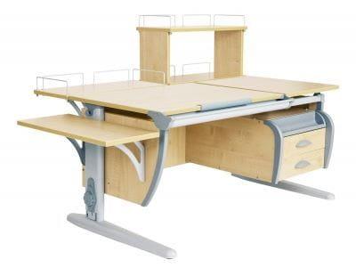 Парта Дэми (Деми) СУТ 17-05Д (парта 120 см+задняя приставка+двухъярусная задняя приставка+боковая приставка+подвесная тумба)