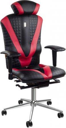 цена на Офисное кресло Kulik System Victory с отделкой Duo Color, индивидуальной прошивкой Quatro и 3D подголовником Металл Черно-красный Серебро