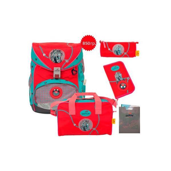 """Ранец ErgoFlex XL """"Бэл-ами"""", спортивная сумка, два пенала и папка-бокс"""