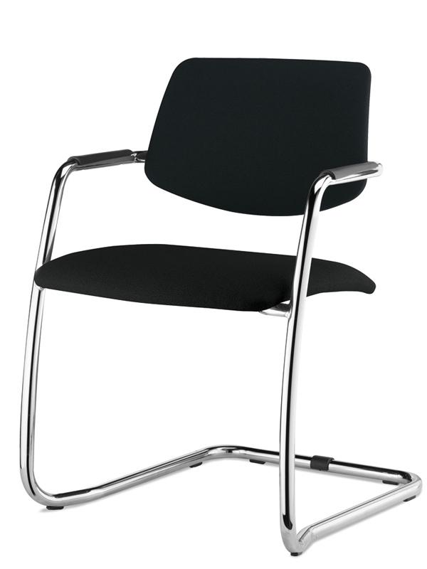Офисное кресло Profoffice Urban Пластик / ткань Черный Хром Пластик - кожа* Полозья