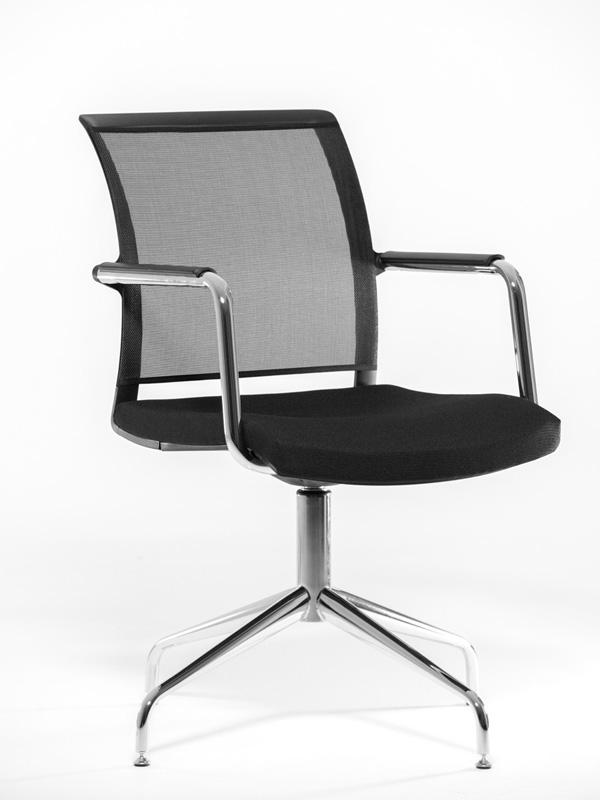 Фото - Офисное кресло Profoffice Magna Сетка / ткань Черный Хром Сетка - ткань 4 опоры имидж мастер парикмахерское кресло версаль гидравлика пятилучье хром 49 цветов небесный 4