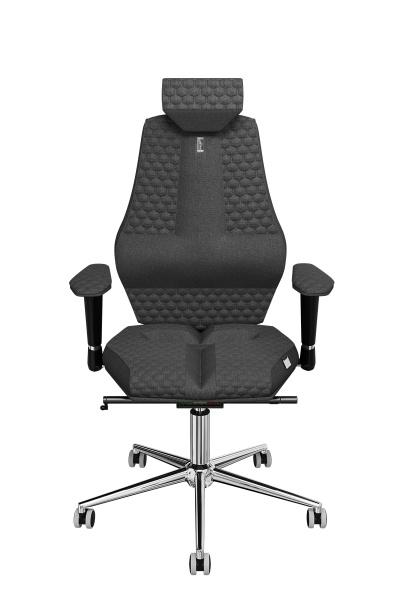 Офисное кресло Kulik System Nano с материалом Азур, индивидуальной прошивкой Mesh и 3D подголовником Металл Серый Серебро офисное кресло kulik monarch материал азур инд прошивка aristo 3d подголовник