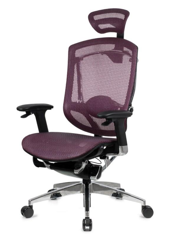 Купить со скидкой Эргономичное кресло GTCHAIR Marrit C Бордо Хром