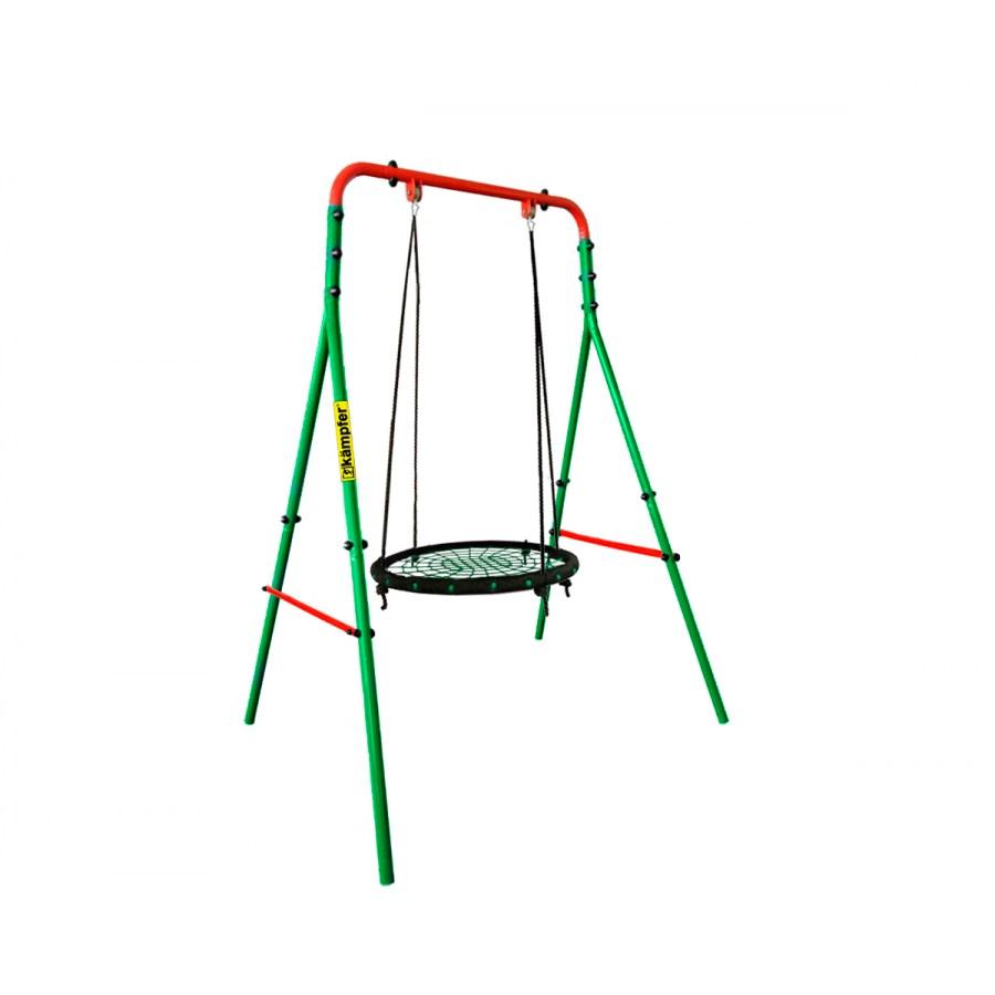 Уличные качели Kampfer Wippe Зеленый Зеленый Гнездо большое 100 см, Wippe Металл Зеленый Зеленый Гнездо большое 100 см