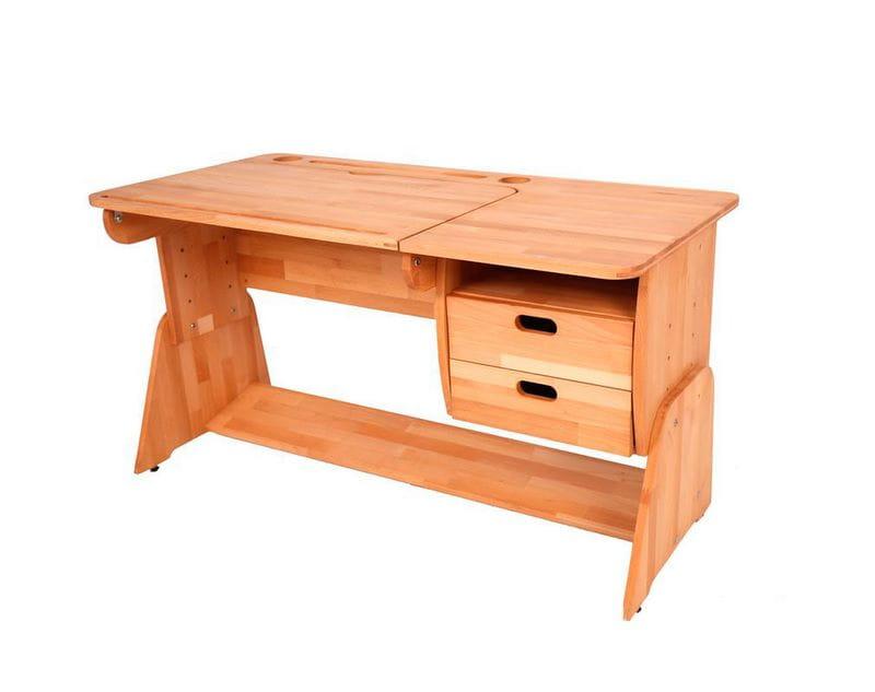 Домашняя парта Абсолют-мебель Школярик С412-1 с мольбертом 120 см Массив дерева Бук массив Правосторонний в комплекте Подвесная тумба