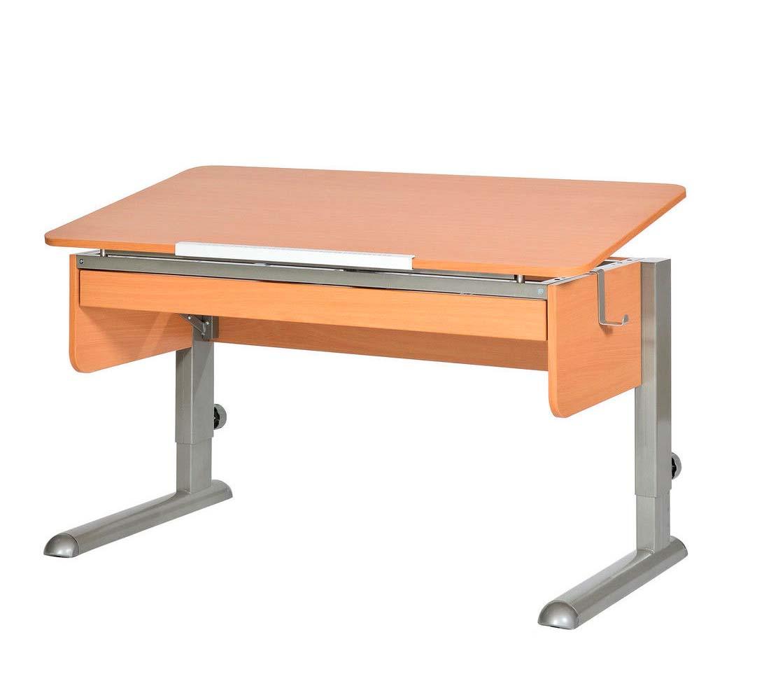 Письменные столы для школьника Астек МОНО-2 с органайзером ЛДСП Бук Серый