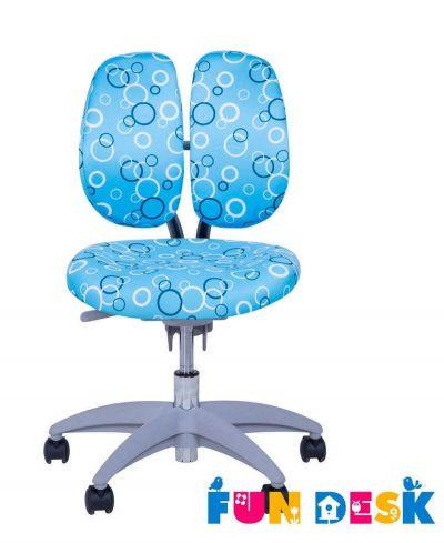 Комплект FunDesk Парта-трансформер Amare с креслом SST9 и прозрачной накладкой на парту 65х45