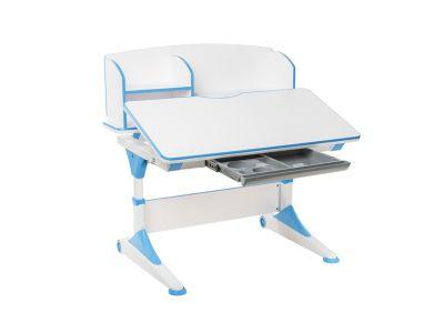 Комплект FunDesk Парта-трансформер Trovare с надстройкой с креслом SST10 и прозрачной накладкой на парту 65х45