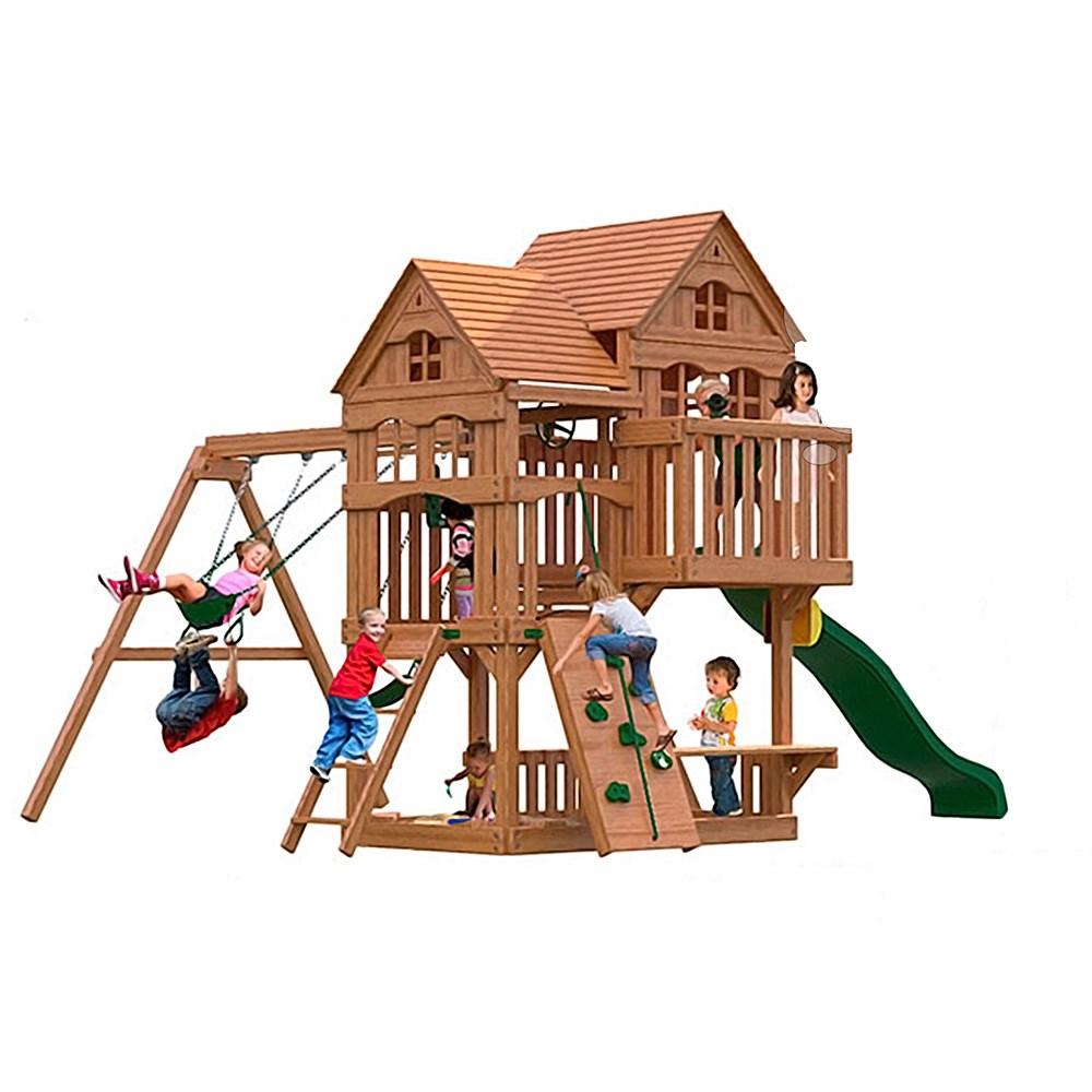 Фото - Детская игровая площадка MoyDvor Панорама Массив дерева Сосна телескоп