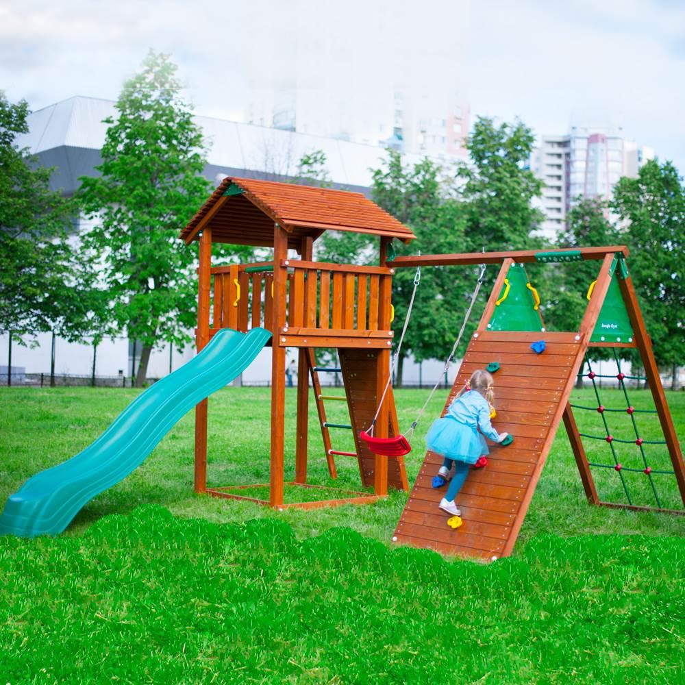 Детский городок Jungle Cottage + Climb Module X'tra детский городок jungle cottage