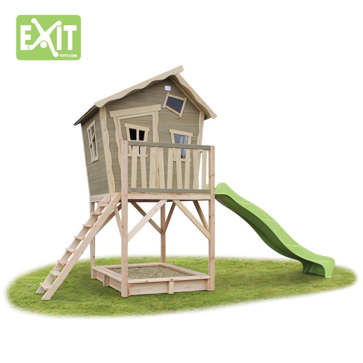 Exit Toys Игровой дом с изгибом с горкой 700 disto d410 с поверкой