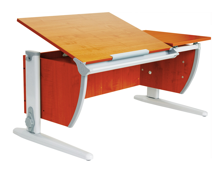 Домашняя парта Дэми СУТ-17 с раздельной столешницей ЛДСП Яблоня Серый школьные парты дэми стол универсальный трансформируемый сут 17 столешница клен