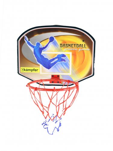 Щит баскетбольный с мячом и насосом Kampfer баскетбольный щит с кольцом dfc для батутов kengo