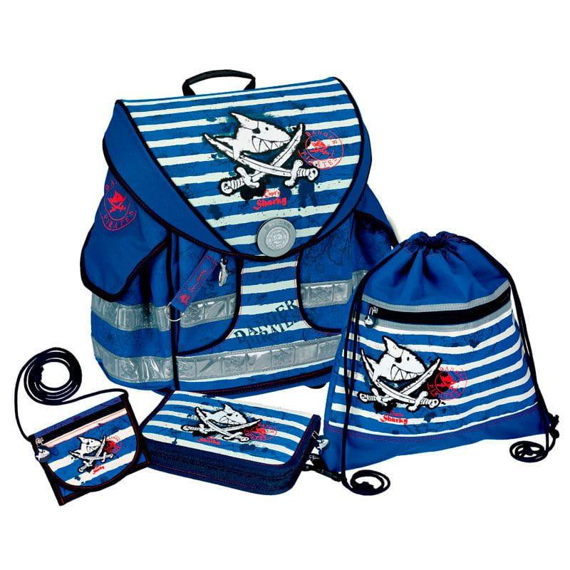 Рюкзаки и ранцы Spiegelburg Школьный ранец Capt'n Sharky Ergo Style+ с наполнением школьные рюкзаки spiegelburg школьный ранец pferdefreunde ergo style plus с наполнением 10572