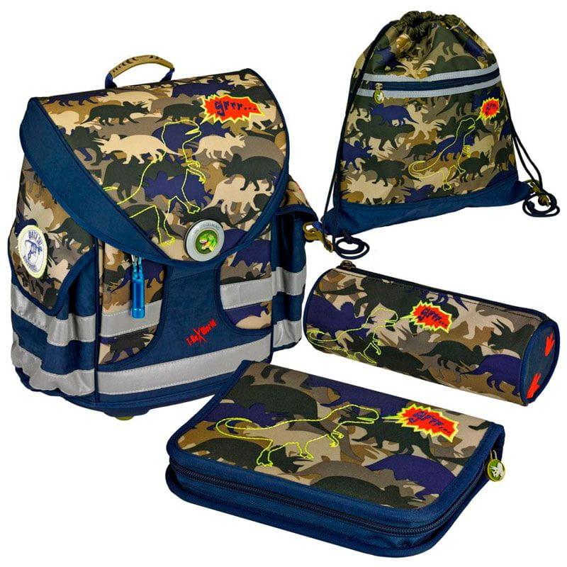 Рюкзаки и ранцы Spiegelburg Школьный ранец T-Rex Ergo Style+ с наполнением школьные рюкзаки spiegelburg школьный ранец pferdefreunde ergo style plus с наполнением 10572