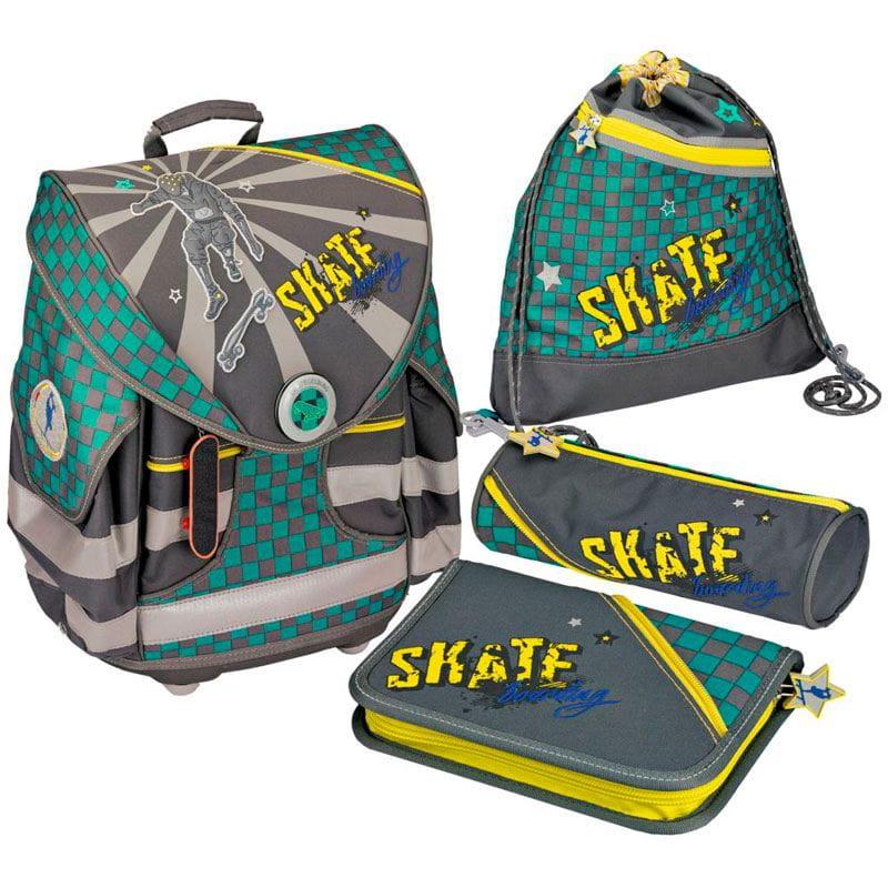Рюкзаки и ранцы Spiegelburg Школьный ранец Skateboarding Ergo Style+ с наполнением школьные рюкзаки spiegelburg школьный ранец pferdefreunde ergo style plus с наполнением 10572