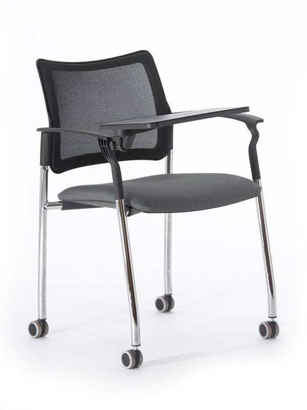 Офисное кресло Profoffice Pinko-Mesh Сетка / ткань Черно-серый Хром Сетка - ткань Есть Со столиком офисное кресло profoffice urban mesh пластик ткань черный хром сетка кожа 4 опоры
