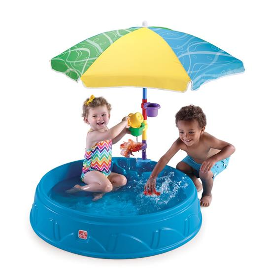 Игровые комплексы Step 2 Step 2 Бассейн для малышей с зонтом Пластик Смешанный paradise зонтик от солнца и дождя (upf50 ) автоматический складной в три раза