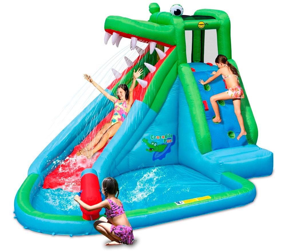 Надувная водная горка Крокодильчик 9240 надувная водная горка водопад 9117n