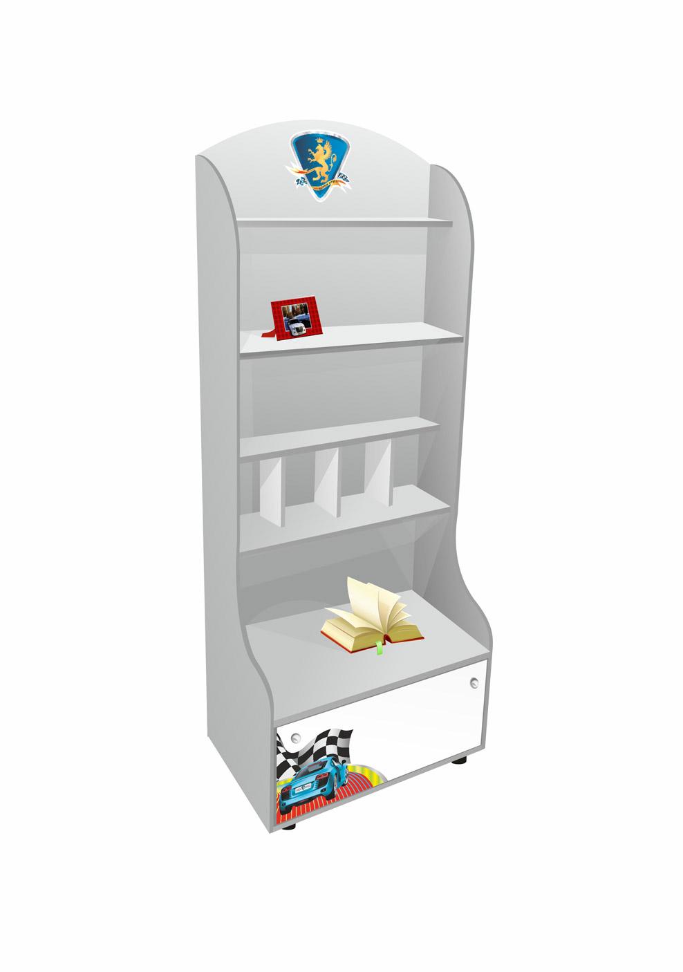 Шкафы и стеллажи Grifon Style R800 Art ЛДСП Silver Metallic