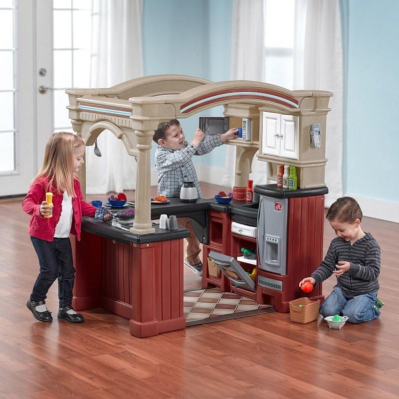 Игровые комплексы Step 2 Step 2 Кухня Весёлые поварята Пластик Коричневый микроволновая кухня