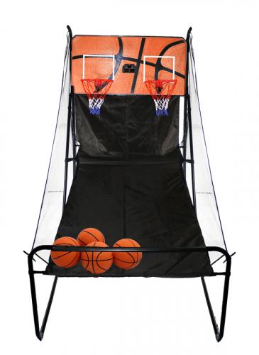 Баскетбольная электронная стойка с двумя кольцами баскетбольный щит с кольцом dfc для батутов kengo