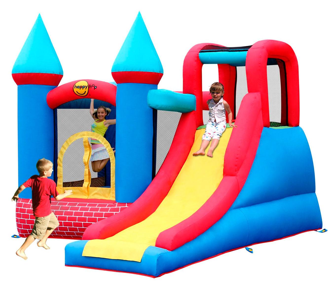 Надувной батут Замок с горкой 9007 (Замок приключений) батут детский надувной jumpo волшебный замок 225x220x215 см