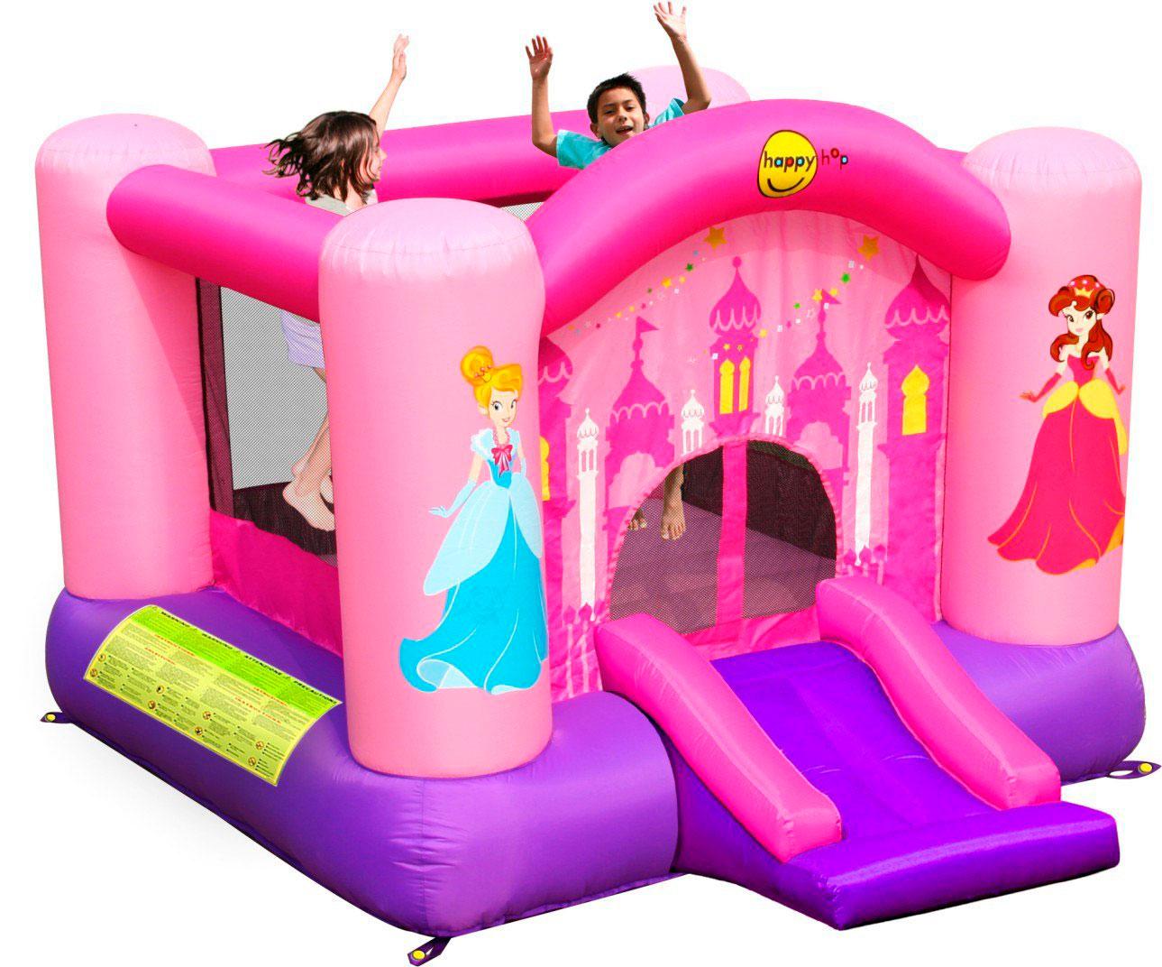 Happy Hop Надувной батут Принцесса 9201P батут детский надувной jumpo волшебный замок 225x220x215 см
