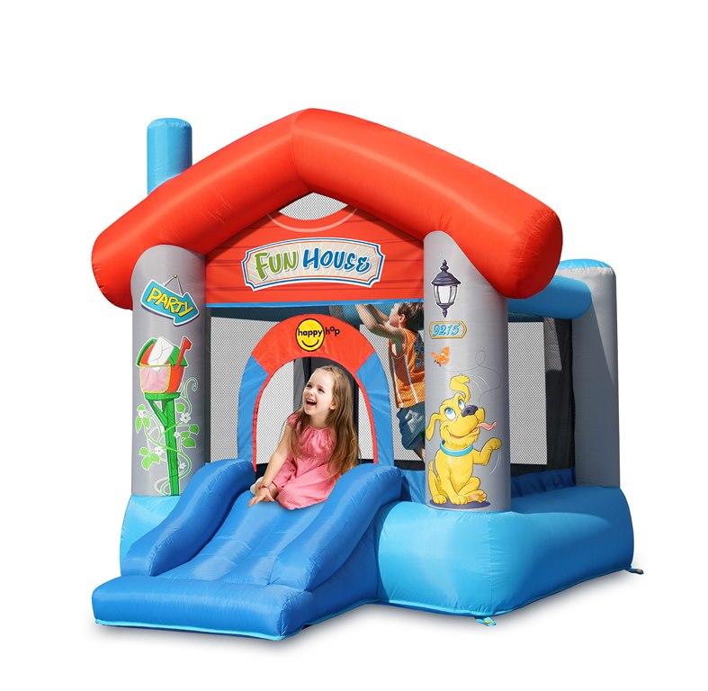 Happy Hop Надувной батут Забавный дом 9215 happy hop надувная водная горка крокодильчик 9240