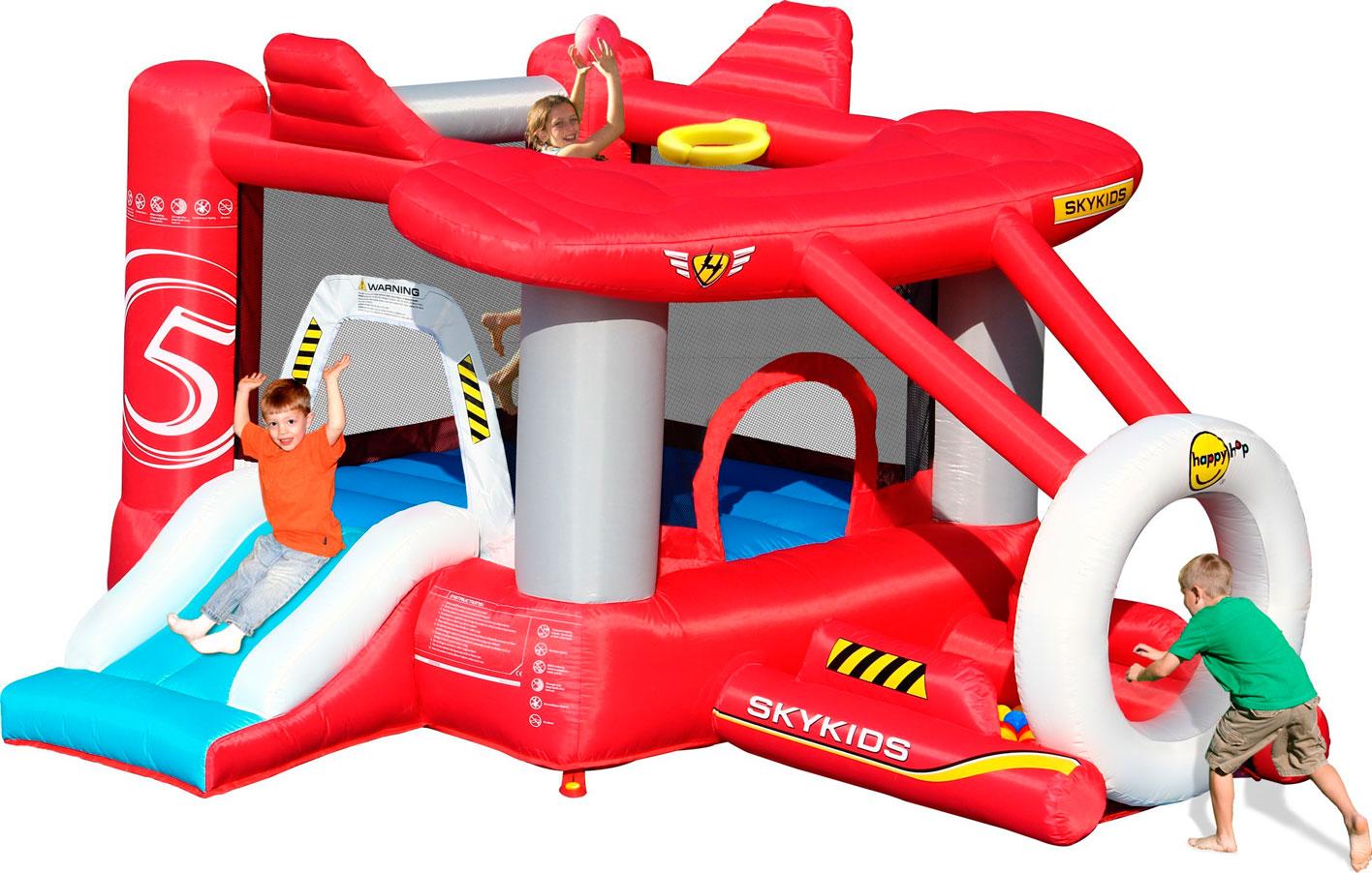 Надувной батут Аэроплан 9237 батут детский надувной jumpo волшебный замок 225x220x215 см