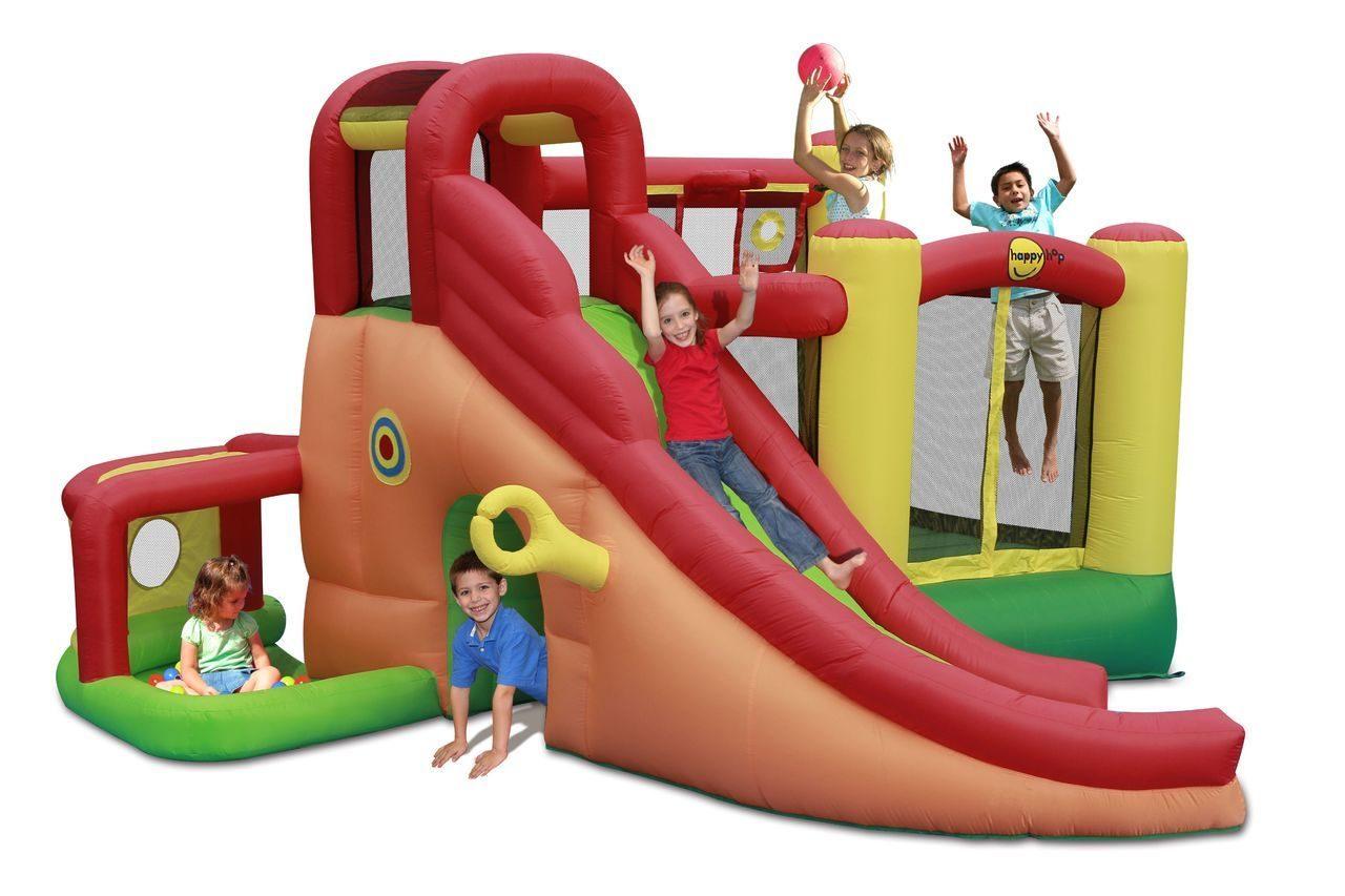 Надувной комплекс Happy Hop Игровой Центр 11 в 1 ПВХ Смешанный цена 2017