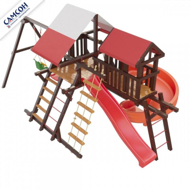 Детская игровая площадка Самсон Таити Люкс Массив дерева Коричневый цена