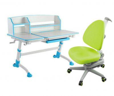 Комплект FunDesk Парта-трансформер Amare II с креслом SST10 и прозрачной накладкой на парту 65х45