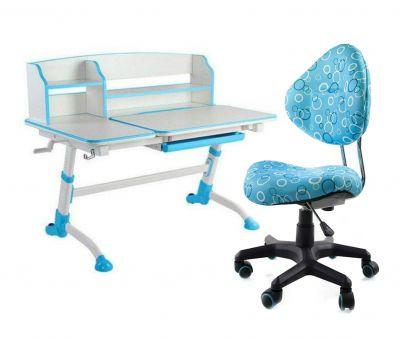 Комплект FunDesk Парта-трансформер Amare II с креслом SST5 и прозрачной накладкой на парту 65х45