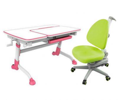 Комплект FunDesk Парта-трансформер Amare с креслом SST10 и прозрачной накладкой на парту 65х45