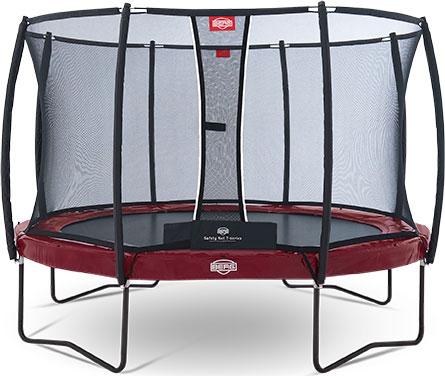 Купить со скидкой Батут Berg Elite+ 430 + Safety Net T-series D=430 см Красный