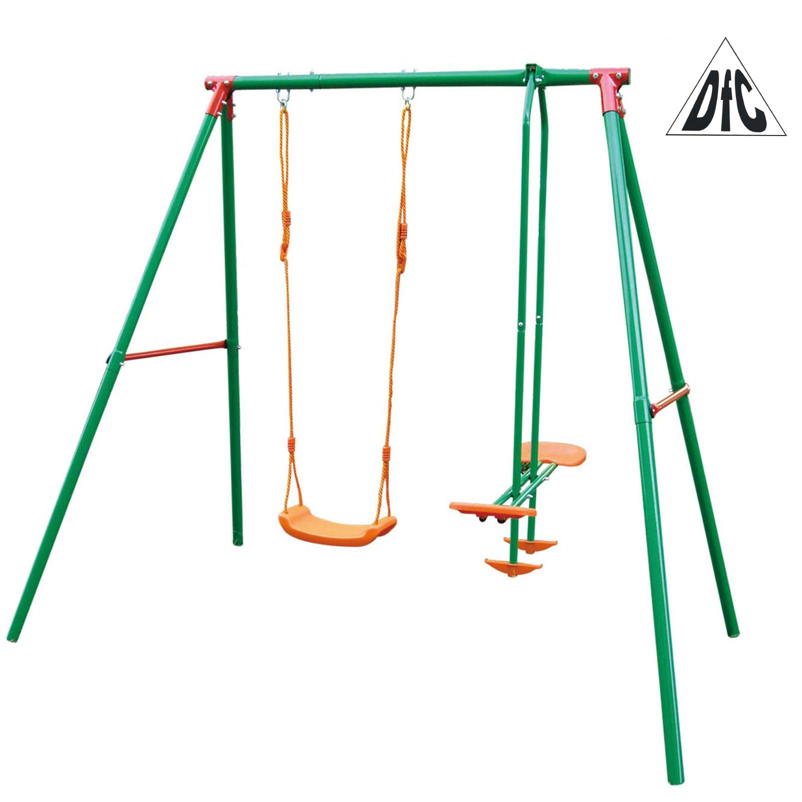 цена на Качели детские подвесные DFC SGN-02 Металл Зеленый