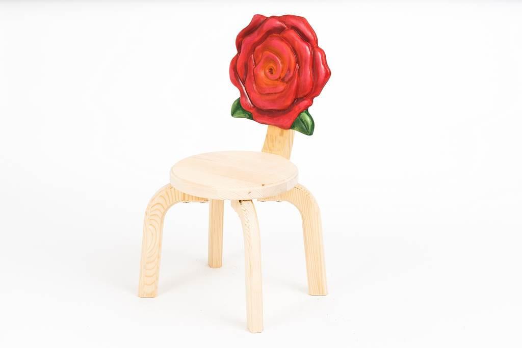 Стул Polli Tolli Детский стульчик Цветочек Розочка цена