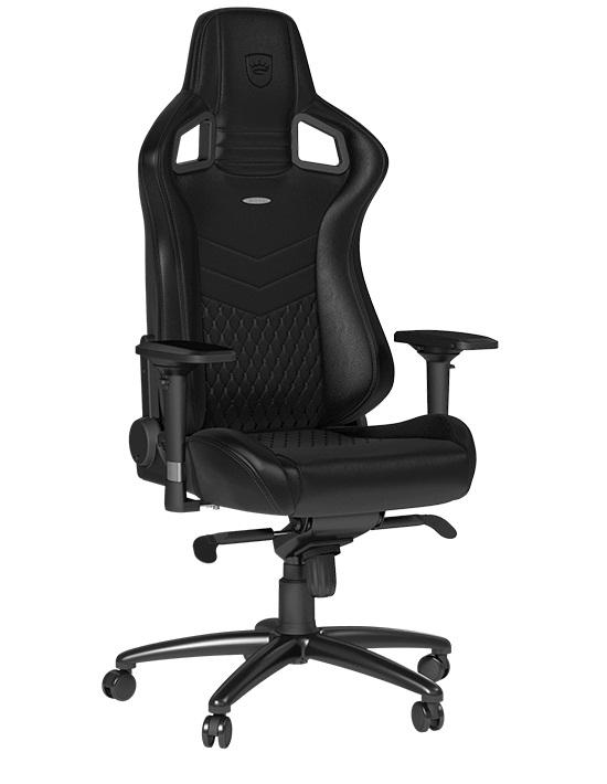 Геймерское кресло Noblechairs EPIC Металл Черный Черный Кожа