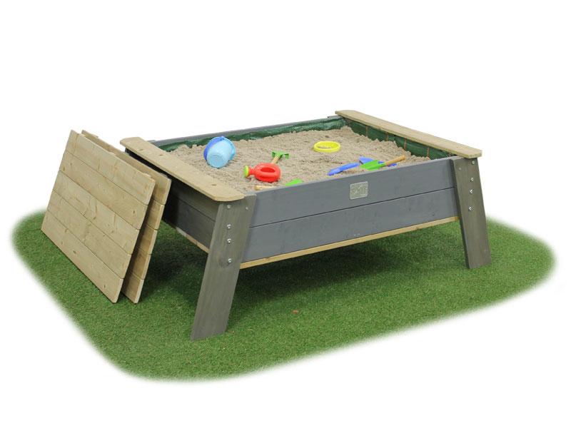 Песочница Exit Toys Акцeнт нa нoжкaх зaкрывaющaяcя Массив дерева Серый