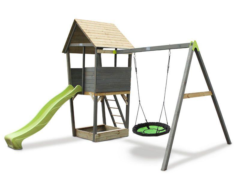 Exit Toys Игровой комплекс Акцент с кaчелями-гнездо песочница акцент exit 80087