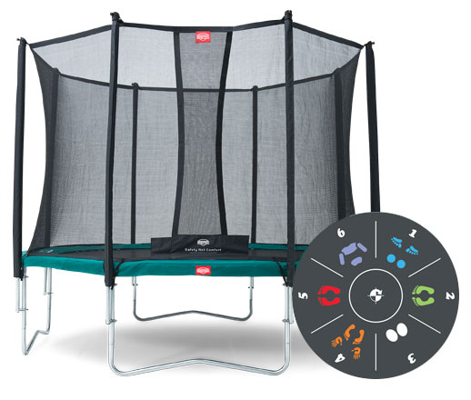 Батут Berg Favorit 430 Tattoo + Safety Net Comfort D=430