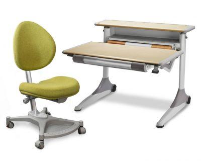 Комплект Mealux Стол Grand с креслом Neapol и прозрачной накладкой на парту 65х45