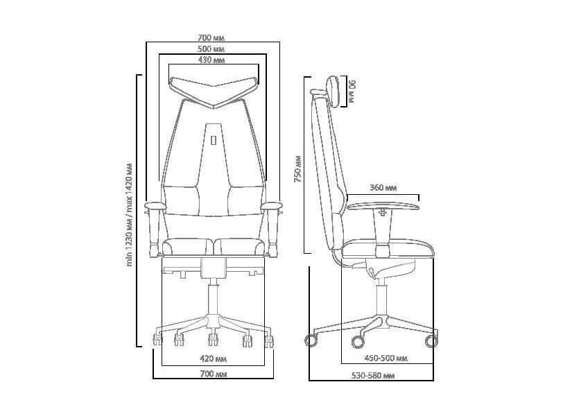 Кресло Kulik System Офисное кресло Kulik Jet (материал Азур, 3D подголовник)
