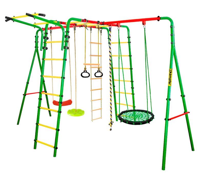 Спорткомплекс металлический Kampfer Wunder Металл Зеленый Смешанный Гнездо большое цветное дополнительные качели kampfer