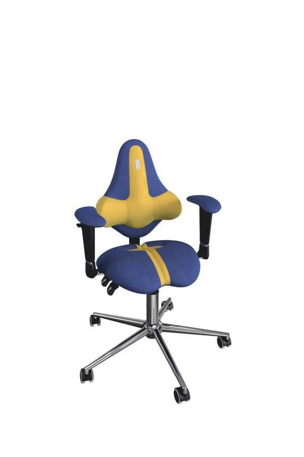 Кресло Kulik System Kids с материалом Антара и отделкой Duo Color Металл Синий Серебро